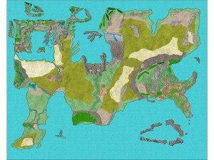 3rd Generation Map of the Fantasy World, Gardul