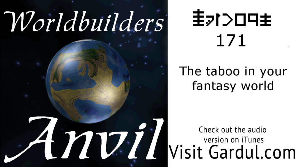 Episode 171 The Taboo in your fantasy world