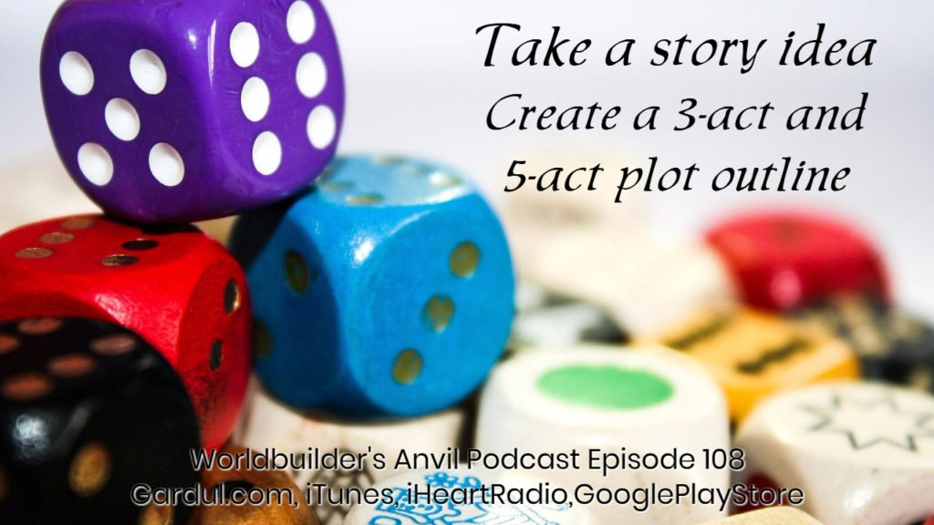 Create a 3-act and 5-act plot outline