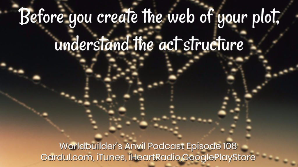 Before you create the web of your plot, understand the act structure
