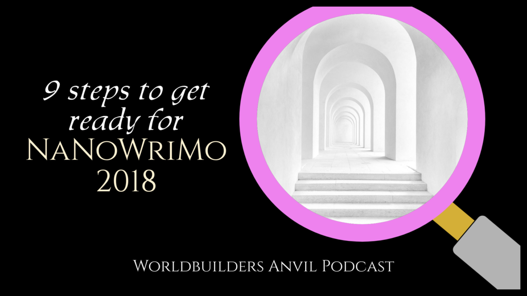 Episode 247 9 steps to get ready for NaNoWriMo 2018